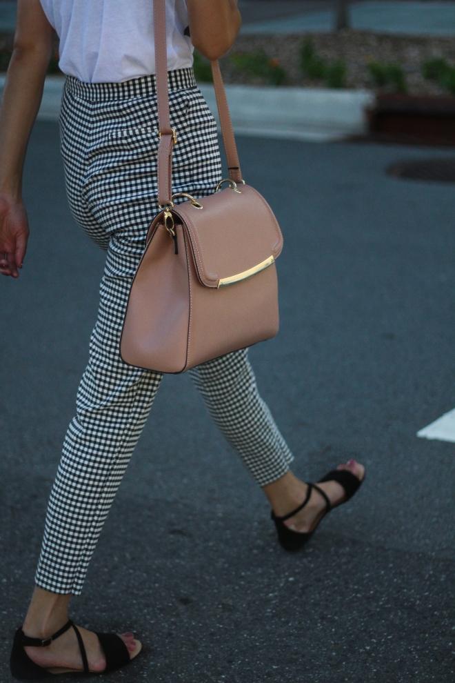 blush pink handbag