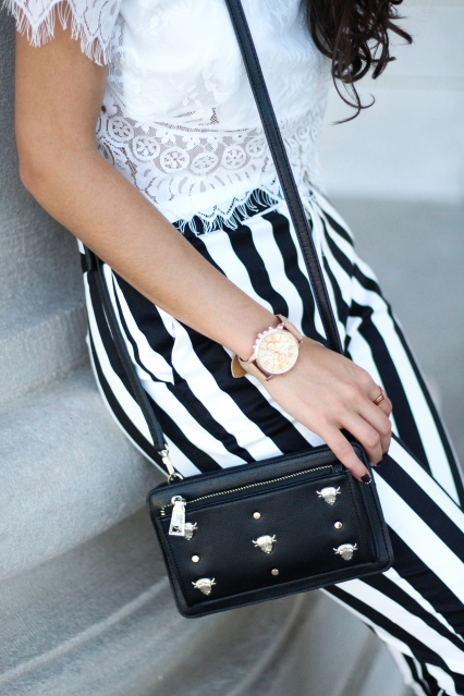 Black, White, and Gold Accessories
