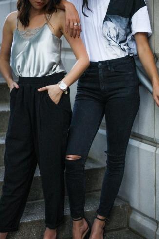 Black Jogger Pants and Black Jeans