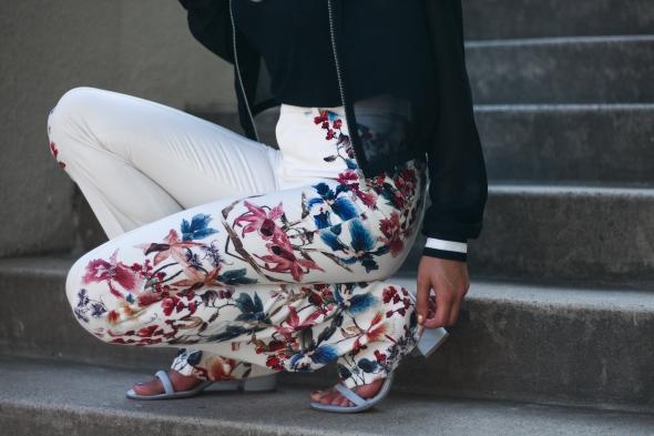 Zara Floral Wide Leg Pants