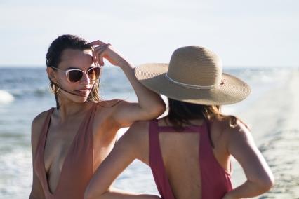 Beach Hat and Sunglasses