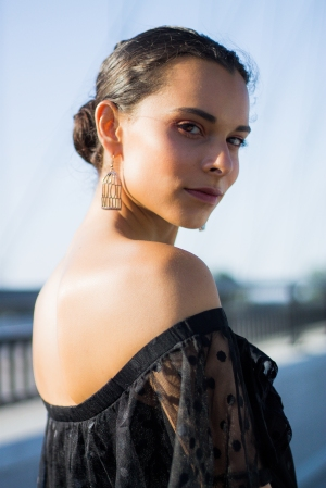 Online Fashion: Off The Shoulder Top and Statement Earrings